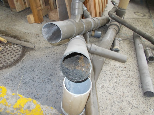 汚水管の詰まり