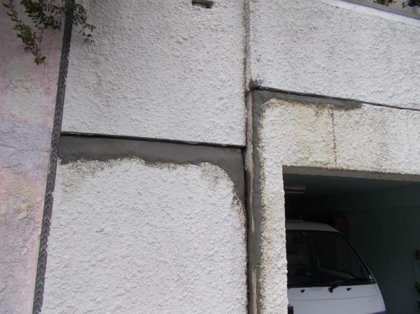 擁壁割れ補修