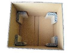 電源基盤用の梱包箱と緩衝材