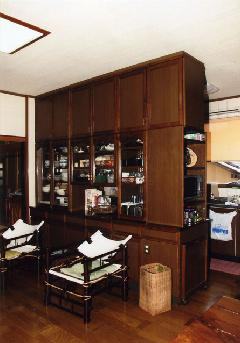食器棚(厨房のハッチ・両面棚付き)