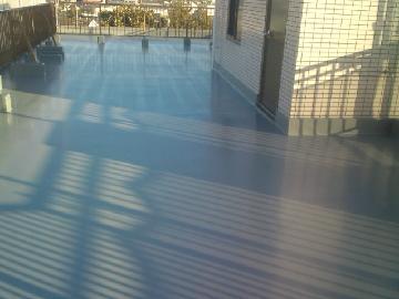 マンション 屋上の床 防水加工施工