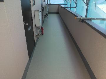 開放廊下床長尺張り