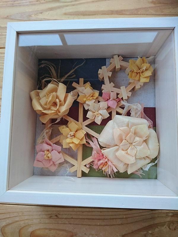 削り華アート 木のお花〈額装〉母の日 R2.5