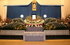 やすらぎ天空館で合同葬(実例)