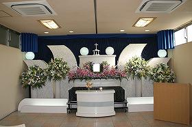 やすらぎホール別館でのキリスト教葬