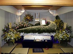 家族葬25名で北斎場 和室(実例)