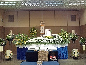 北斎場で中式場 豪華な家族葬 まごころ45プラン(実例)