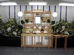 近隣の集会所での神式葬