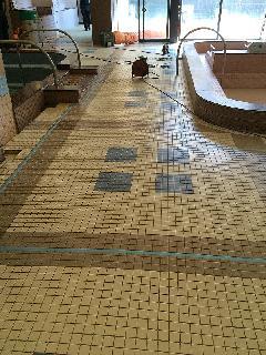 千葉県 温浴施設 床タイル工事