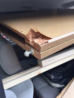 板橋区志村 壊れたクローゼット扉をカバー工法で新しく入替工事