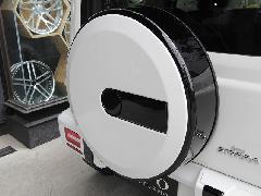 AEROOVER スペアタイヤカバー(エンブレム別売、取り付け金具付き)