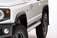 JAOS フェンダーガーニッシュ type-X 塗装品 マットブラック ジムニー JB64系
