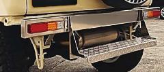 クラシックストレートリアバンパー ステップ付き ステンレス製