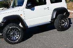 ノブレッセ JB74 ジムニーシエラ用サイドステップ(ABS製) 未塗装