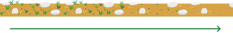 除草塩は、雑草自体が生えにくい土壌(環境)へと徐々に変化させていきます