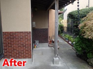 ポーチ柱の基礎補修 施工例