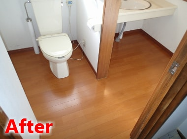 トイレの床張替え
