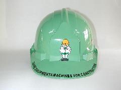 工事用ヘルメットのマーク版代