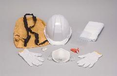 ヘルメット(A01型)+防災用品セット