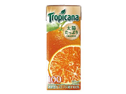 トロピカーナ100% オレンジ 250ml×24本