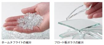 ホームタフライトの破片/フロート板ガラスの破片