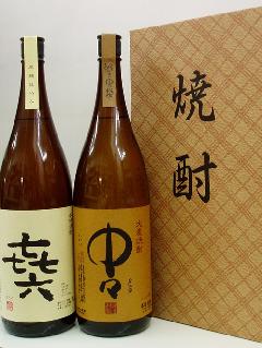 【焼酎ギフト】芋・麦焼酎 (きろく・中々) 1.8L