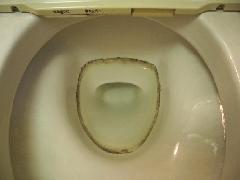 トイレの水垢汚れ