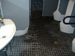 居酒屋 トイレ 床タイル 特殊洗浄