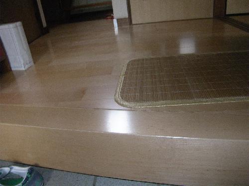 一戸建ての床のバリアフリー工事 千葉県流山市