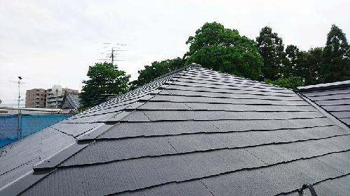 屋根塗装仕上がりです。