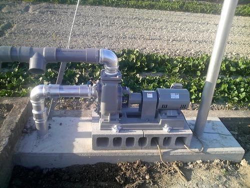 農業用ポンプ設置工事