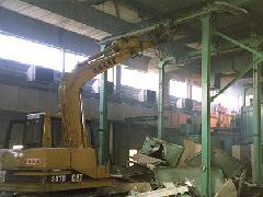 工場内プラント及び設備解体(ガス切断重機解体)