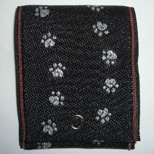 畳縁小銭入れ(猫の足跡 黒)