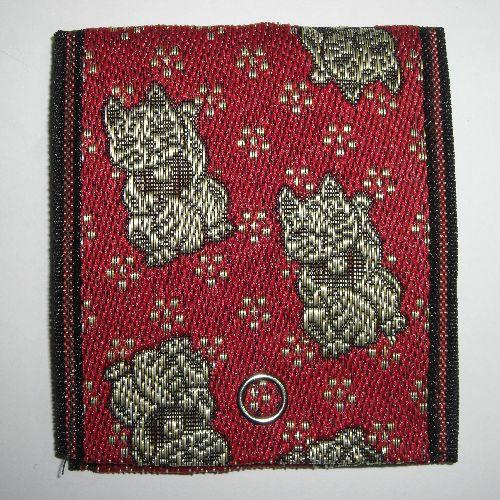 畳縁小銭入れ(招き猫)