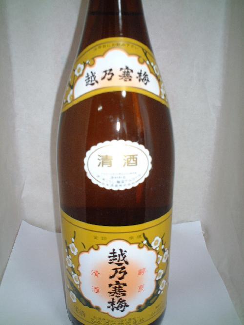 越乃寒梅 清酒 1.8L