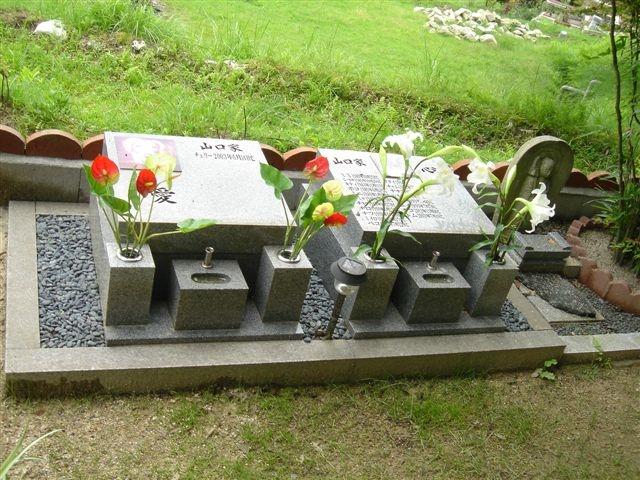 ベース1000×2000サイズ  特注墓地施工例