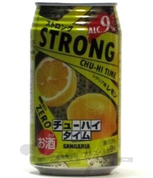 サンガリア ストロング チューハイタイム ゼロ レモン 9度 350ml
