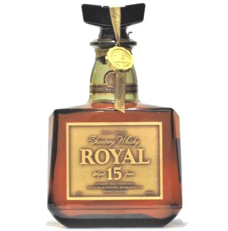[古酒] サントリーウイスキー ローヤル 15年 ゴールドラベル 箱付き 43度 750ml