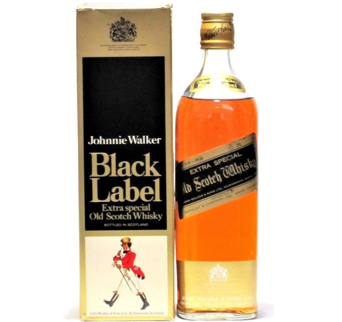 [古酒] ジョニーウォーカー ブラックラベル 特級表示 43度 760ml