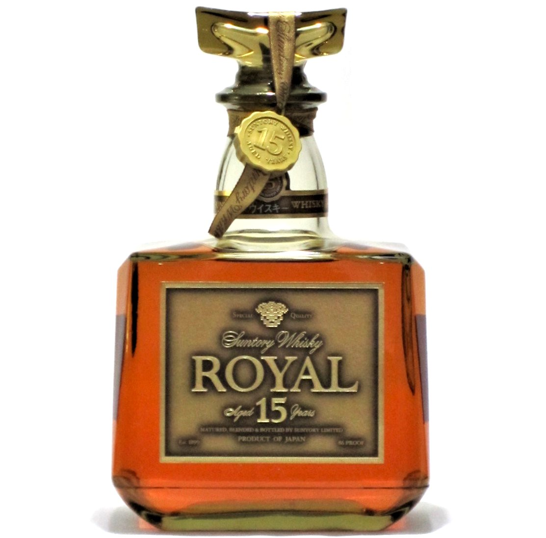[古酒] サントリーウイスキー ローヤル 15年 ゴールドラベル クリアボトル 箱付き 43度 750ml