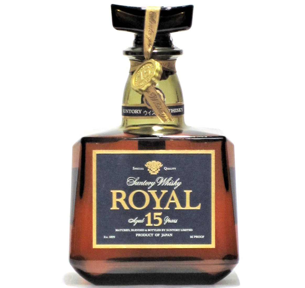 [古酒] サントリーウイスキー ローヤル プレミアム 15年 ブルーラベル 43度 700ml