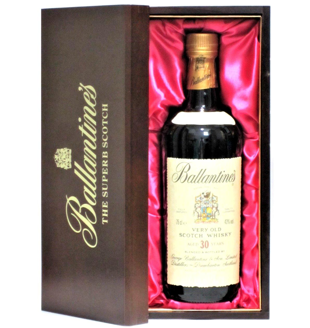 [古酒] バランタイン 30年 正規品 木箱付き 43度 750ml