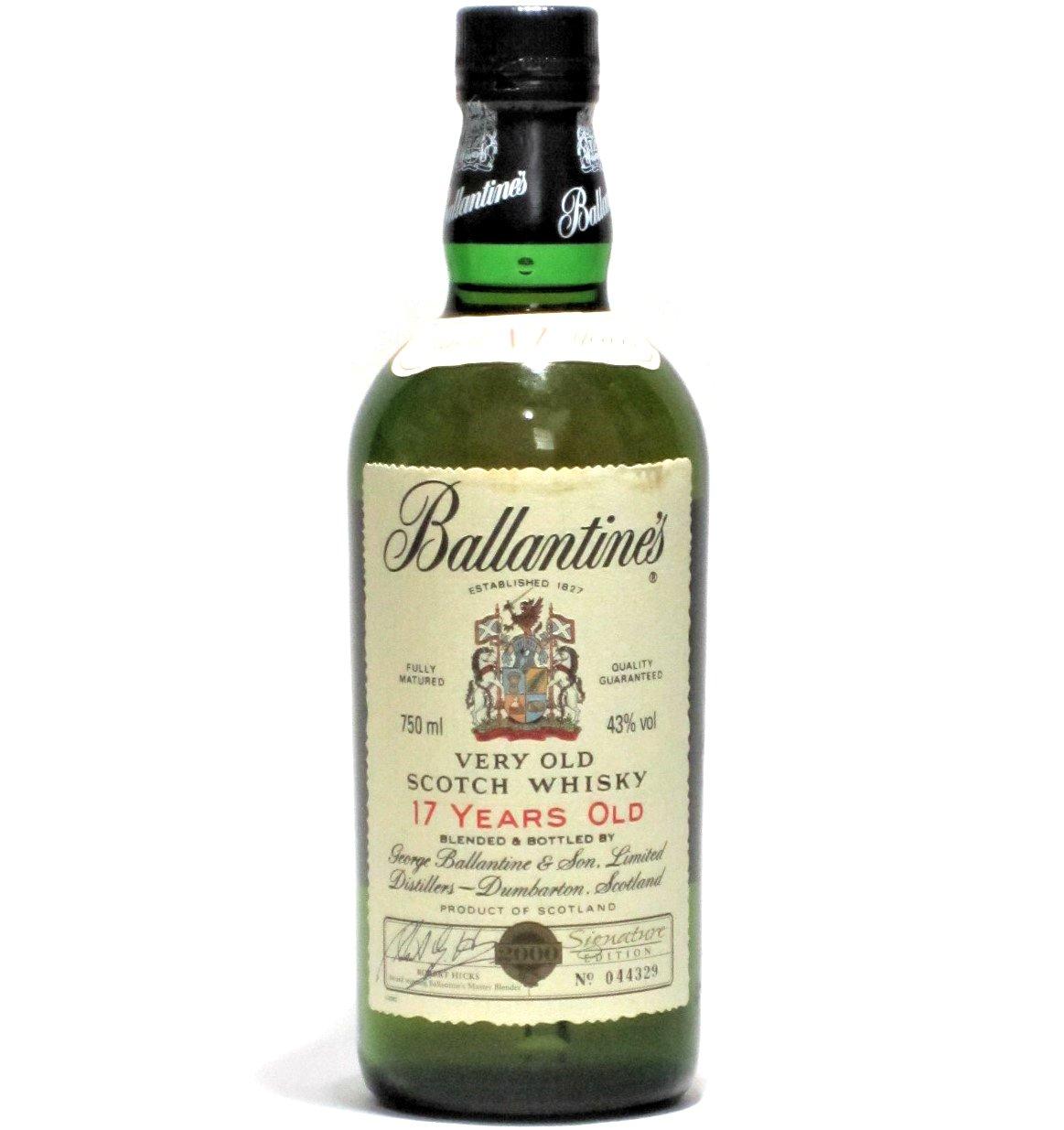 [古酒] バランタイン 17年 2000年 ミレニアム 限定ボトル 正規品 箱付き 43度 750ml