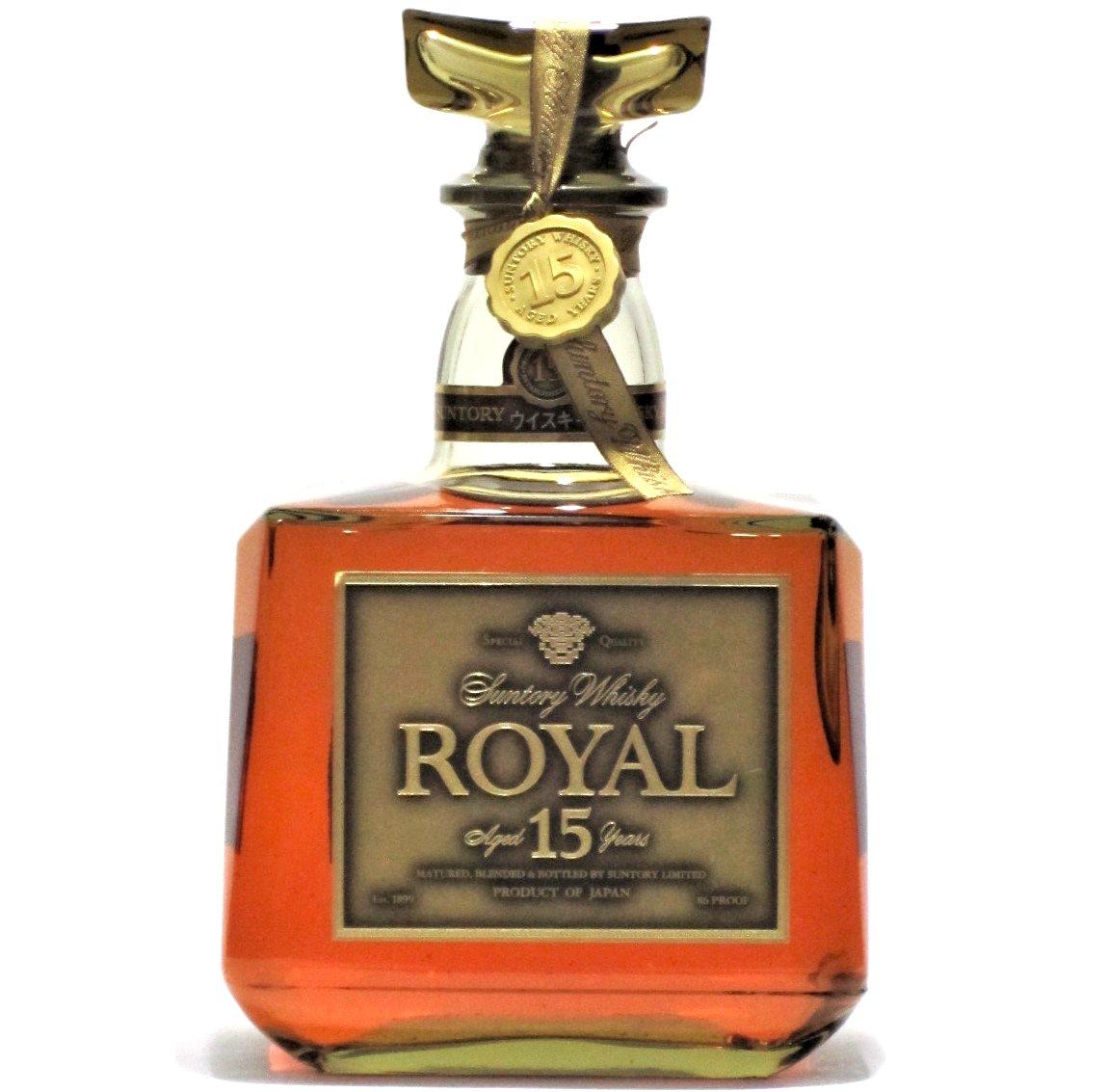 [古酒] [送料無料] サントリーウイスキー ローヤル 15年 ゴールドラベル クリアボトル 43度 750ml