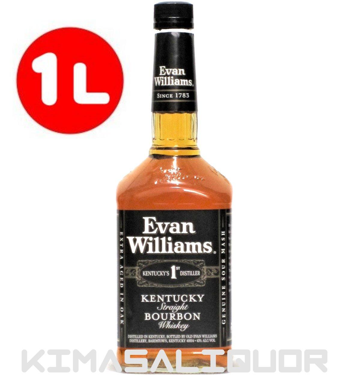 エヴァンウィリアムス ブラック 43度 1000ml (1L)