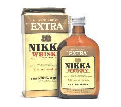 [古酒] ニッカ ウイスキー エクストラ ポケット瓶 2級 37度 180ml