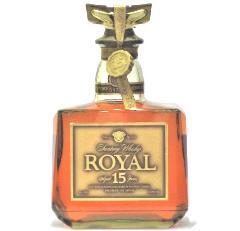 [古酒] サントリーウイスキー ローヤル 15年 ゴールドラベル 箱付き 43度 750ml ※ラベル不良