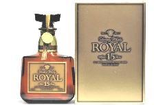 [古酒] サントリーウイスキー ローヤル 15年 ゴールドラベル 43度 750ml ※箱はダメージがあります。