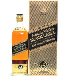 [古酒] ジョニーウォーカー 12年 ブラックラベル 正規品 特級表示 箱付き 43度 750ml