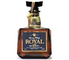 [古酒] [送料無料] サントリーウイスキー ローヤル プレミアム 15年 ブルーラベル 箱付き 43度 700ml